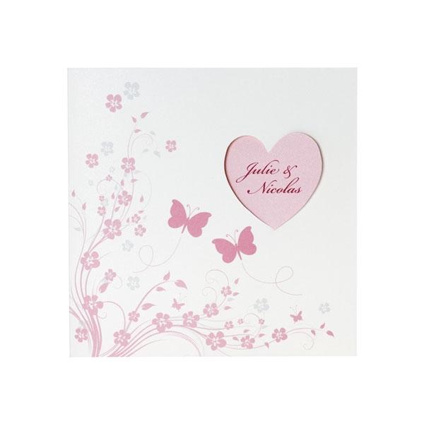 Hochzeitseinladung Rose3 Einladungskarte Rose1