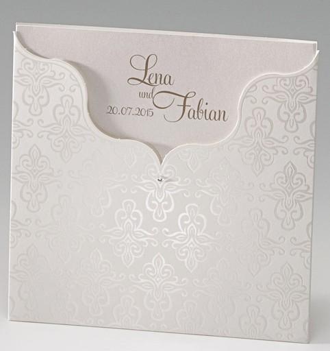 Einladungskarten Hochzeit Einsteckkarte