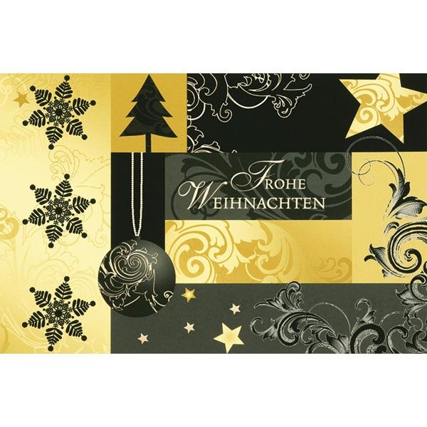 ♥ ♥ ♥ Weihnachtskarte Frohe Weihnachten, gold - jetzt auf ...